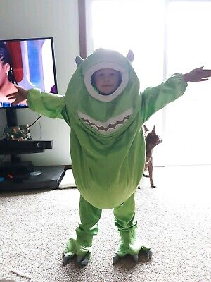 RARE Monsters Inc Mike Wazowski Halloween Costume Cosplay Disney Store 4-6