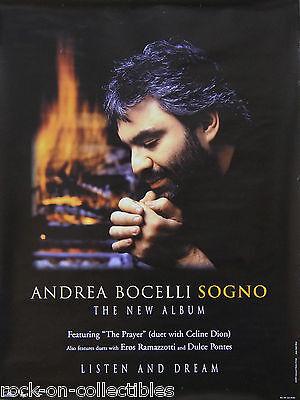 Andrea Bocelli 1999 Sogno Original Promo Poster
