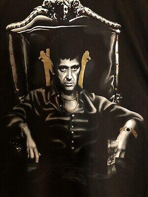 Vintage Scarface Clothing Co Tony Montana Jeweled Shirt 2XL Rare/HTF EUC