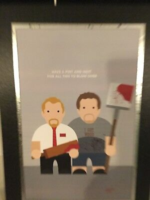 A4 Mounted print Shaun of the Dead