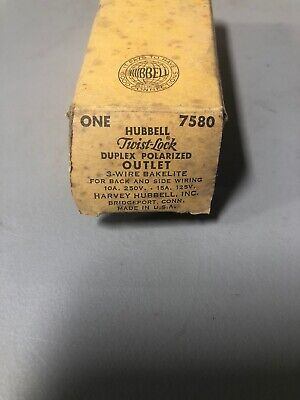 Hubbell Twist Lock Receptacle Outlet 7580 1510 Amp 125250 Volt 422020