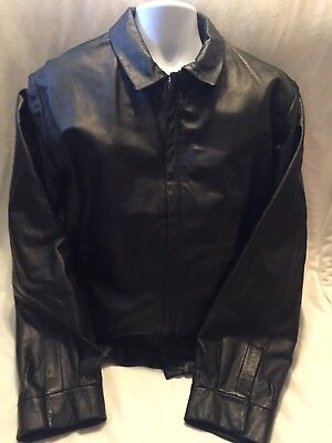Wilson Leather Pelle Studio Thinsulate Ultra Insulation Leather Coat Large