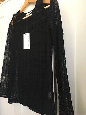 Iro Blouse Camille Lace  Black Size 42 Elastic BNWT