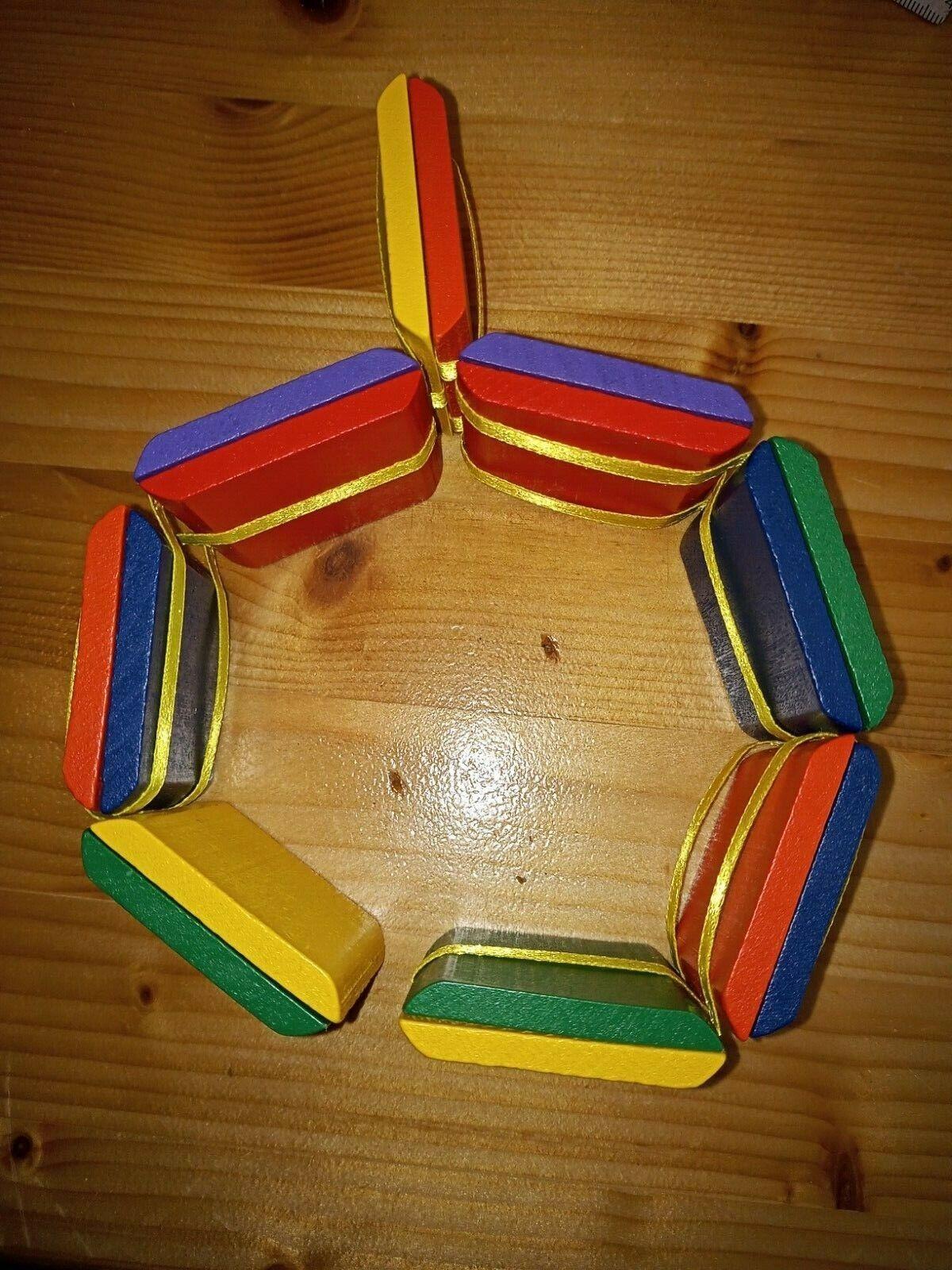 Jakobsleiter Spielzeug, Klick Klack, Magische Tabletten, Folk Spielzeug aus Holz