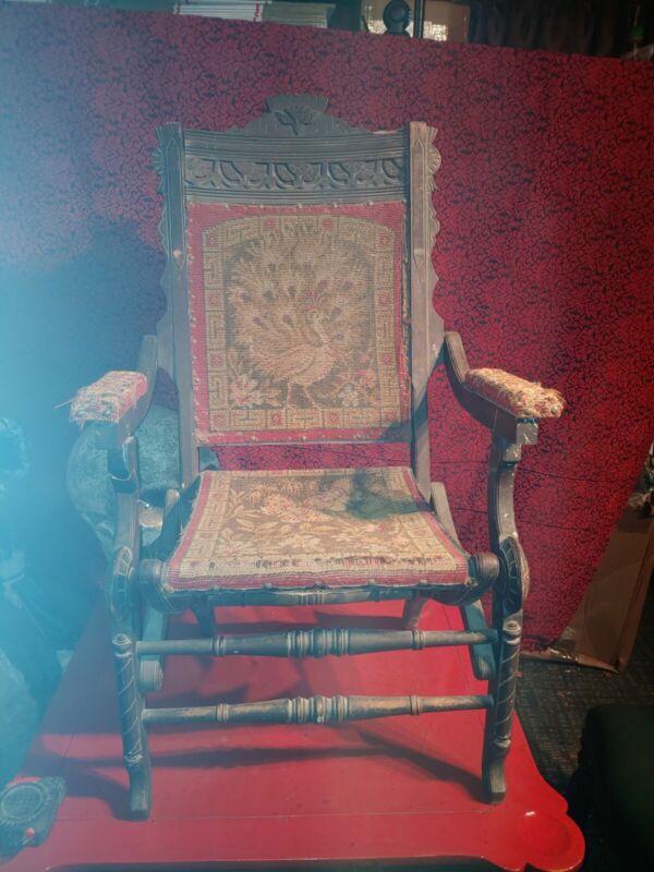 Haunted Spirit Metaphysical Supernatural Possessed Victorian folding Chair