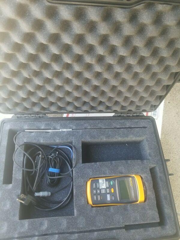 Fluke Calibration 1523 Handheld Thermometer, Fluke 5616 Probe w/ Road Case