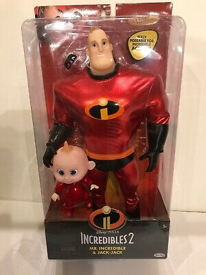 NEW Disney The Incredibles 2 - Mr. Incredible & Jack-Jack Articulated Doll Jakks - Jack Jack The Incredibles