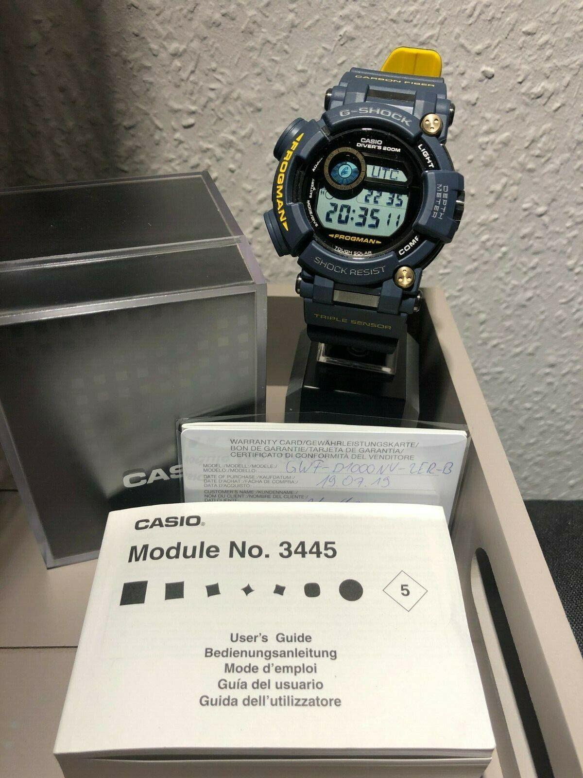 Casio G-Shock GWF-D1000NV-2ER-B neu selten und rar Modul 3445