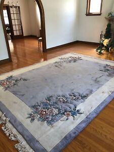 Luxurious wool rug made in England 12' x 8.5'