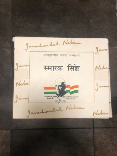 "INDIA - 5 COIN  SET - ""JAWAHARLAL NEHRU BIRTH CENTENARY"" -1989"
