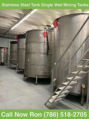 Stainless Steel Tank Single Wall Mixing Tank