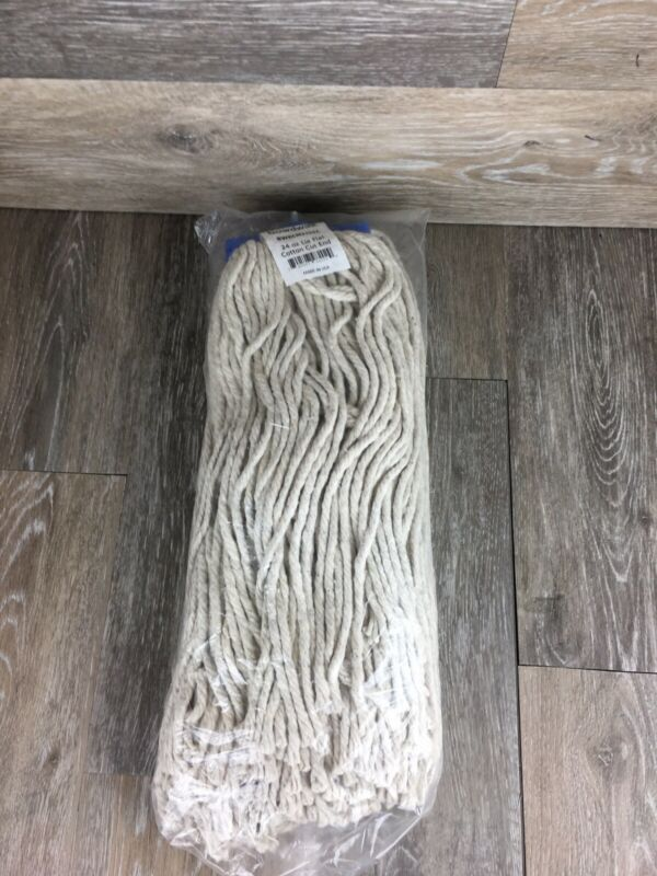 Lot Of 8 Cotton Lieflat Cut End Commercial Or Home Replacement Mop Heads
