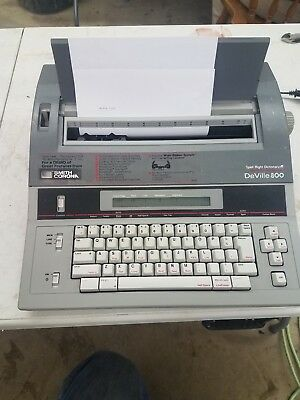 Smith Corona Deville 800 5f Spell Right Dictionary Word Processing Typewriter