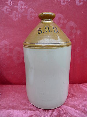 schöner,alte Vorratsflasche__S.R.D.__Carder & Shons__33cm__Steingut__Vorratskrug