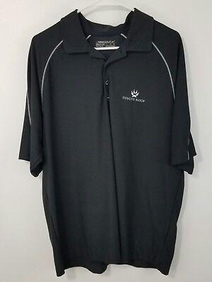 Coyote Ridge Golf Club ~ Nike Golf Polo sz Large Black Mens