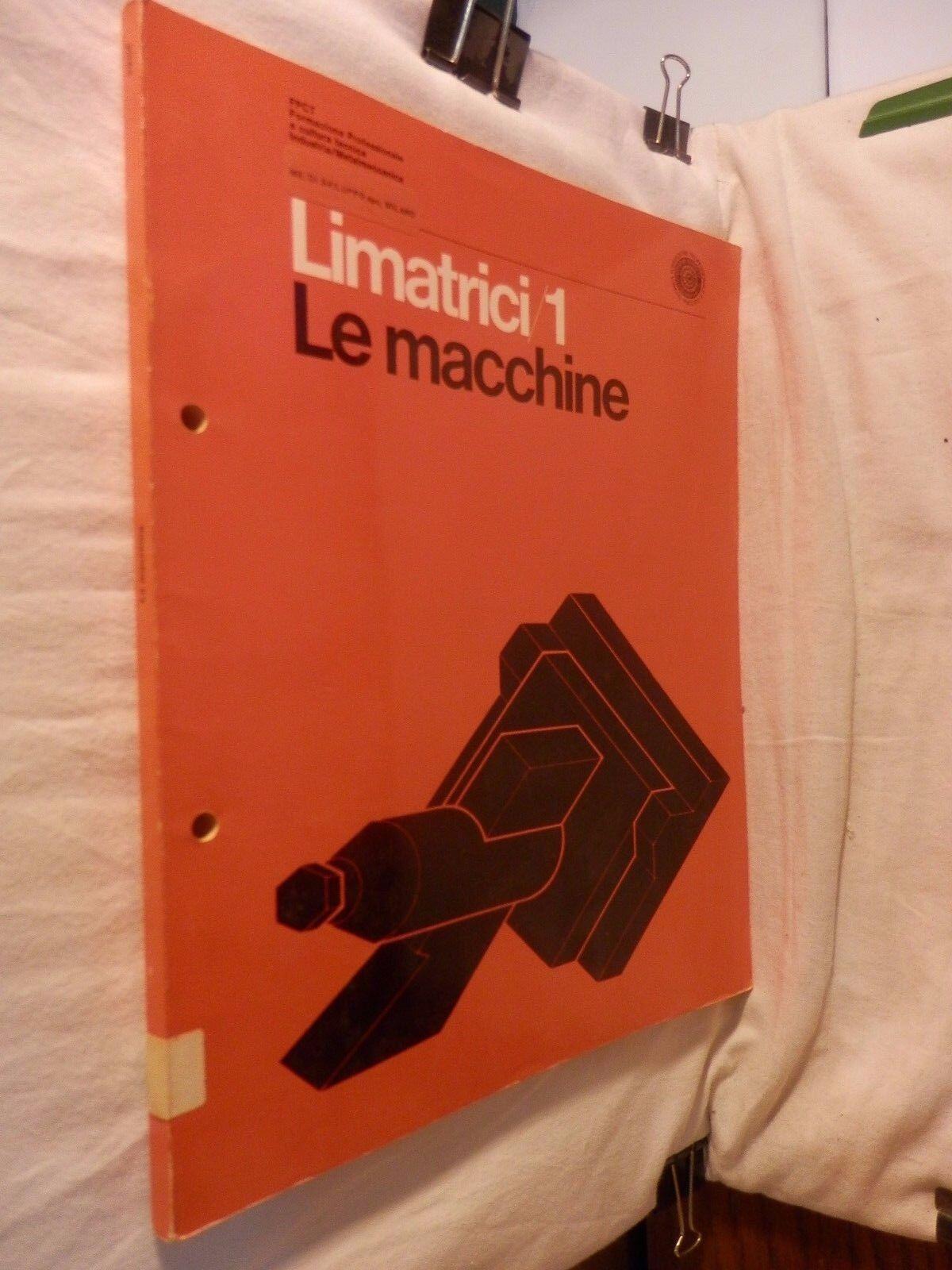 LIMATRICI Vol 1 LE MACCHINE Nino Azzani Sistema didattico FPTC 1972 libro di da