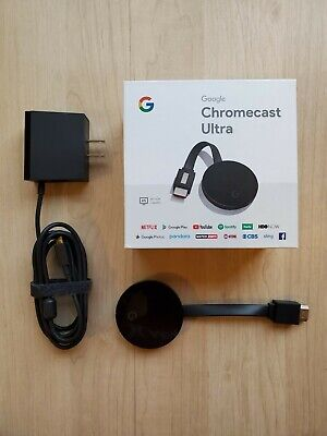 Google Chromecast Ultra 4K Digital Media Streamer - Black