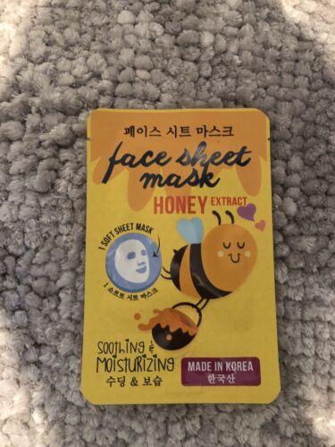 Gesichtsmaske/Tuchmaske mit Honig