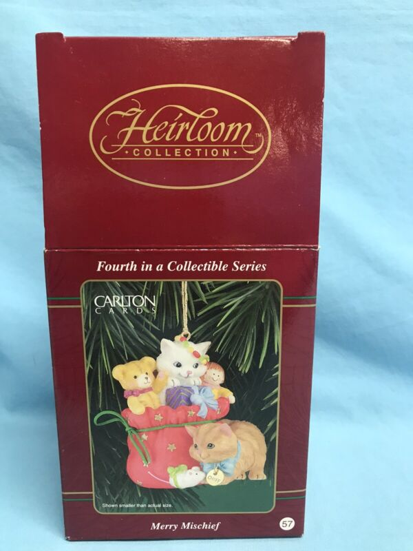 Ornament Carlton Cards Heirloom Collection Merry Mischief 4th In A Series NEW