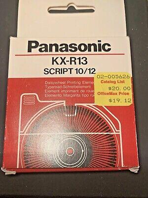 Panasonic Kx R13 Printwheel Daisy Wheel Element Script 1012