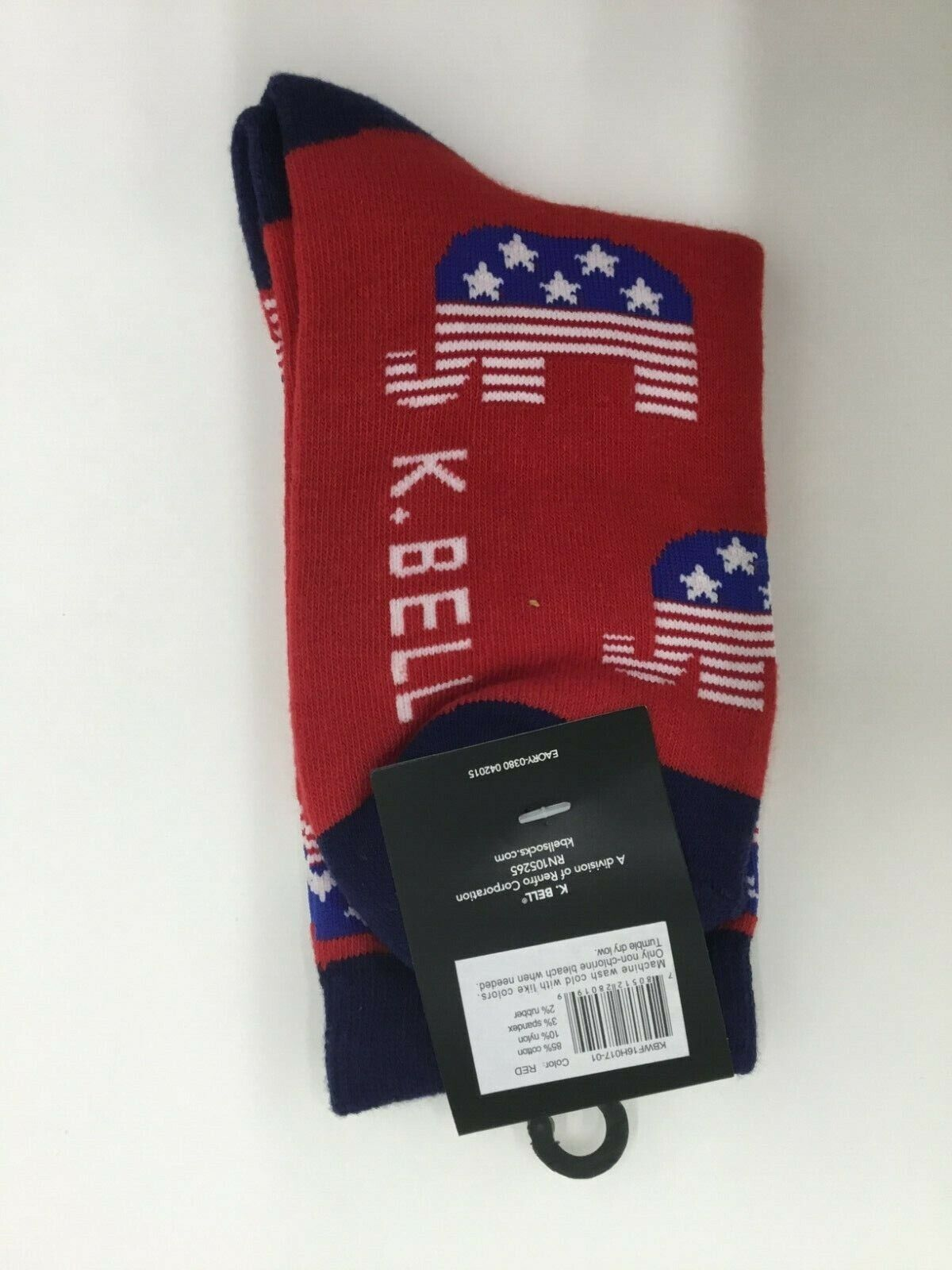 ONE PAIR  K.BELL MADE IN USA NEW CREW SOCKS WOMEN/BOYS SIZE 9-11 4TH OF JULY USA Clothing, Shoes & Accessories