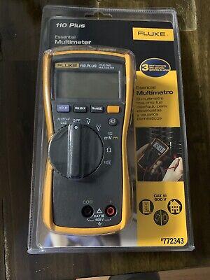 Clean Fluke 110 Plus True Rms Digital Multimeter Leads Works Meter Dmm