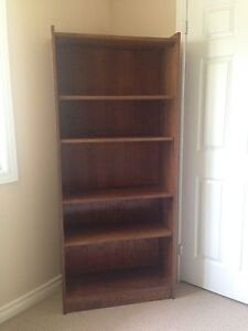 SOLID ASH BOOKCASE OR SHELVING UNIT