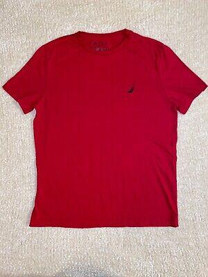Mens Red Nautica Tee Shirt Size Medium