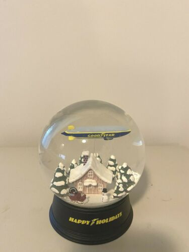 Goodyear Blimp Snow Globe - Happy Holidays