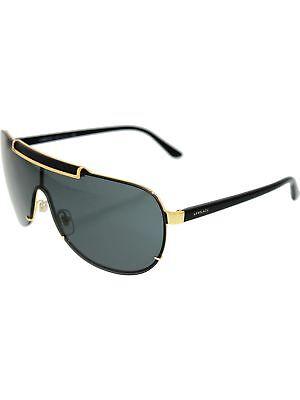 387409d693d9f Versace Men s Mirrored VE2140-100287-40 Gold Aviator Sunglasses