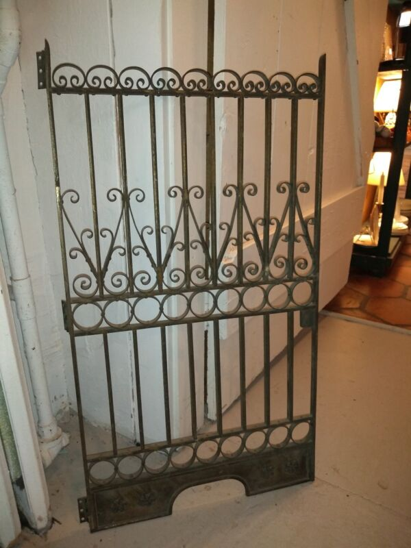Antique Bronze Bank Tellers Architectural Security Gate Wrought