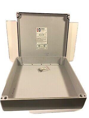 Hubbell Stahlin Electrical Fiberglass Enclosureduraboxx D14144 14 X 14 X 4