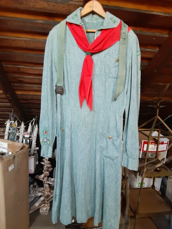 Vintage 1930s? Girl Scout Uniform RARE, with nice patches Lancaster Pennsylvania