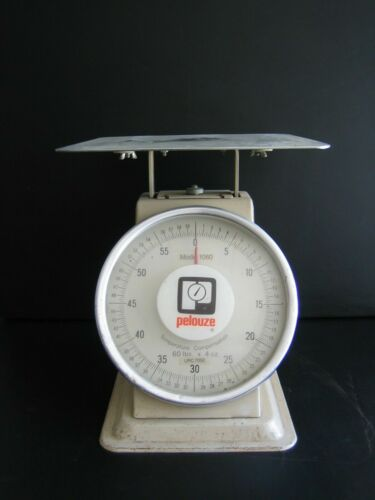 Vintage Pelouze Model 1060 Temperature Compensated Scale 60 LBS