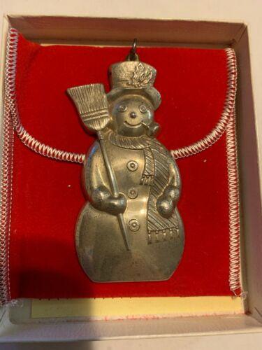 Gorham Snowman Christmas Ornament Sterling Silver 1986?