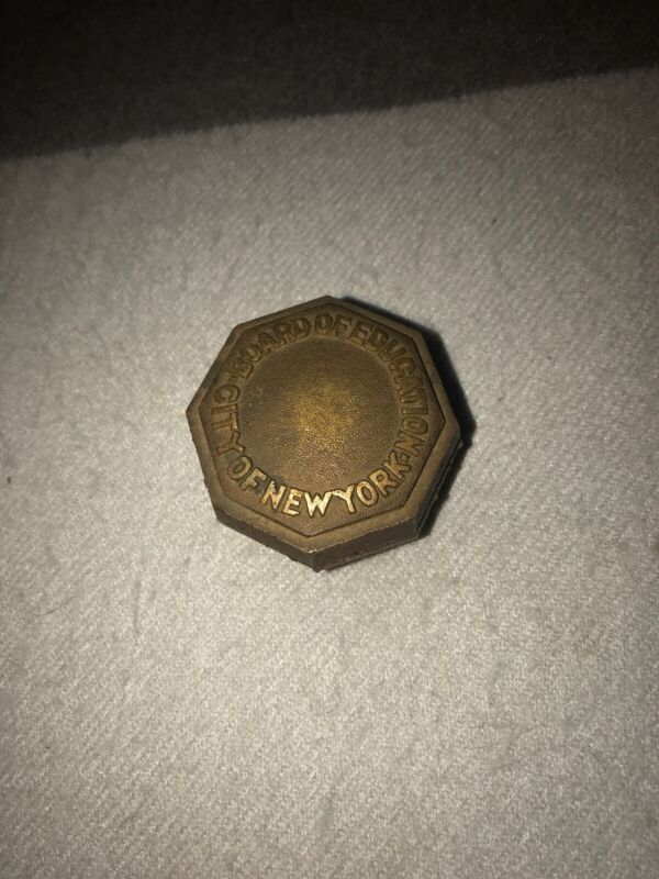 Antique style Brass Board of Education City of New York Door Knob