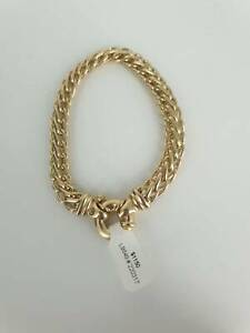9CT YELLOW GOLD BRACELET WHEAT LINK #220317 Lawnton Pine Rivers Area Preview