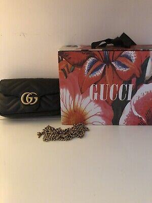 Gucci Black Super Mini Marmont Bag