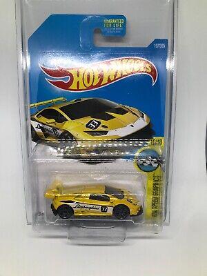 2017 Hot Wheels LAMBORGHINI HURACAN LP 620-2 SUPER TROFEO Yellow 107/365