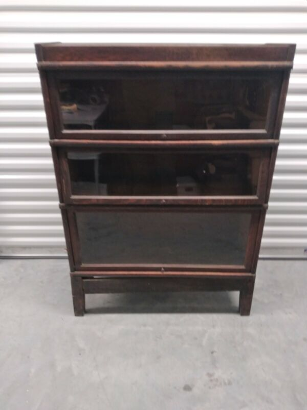 Antique Globe Wernicke 3 High Stack Up Bookcase - Sectional