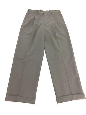 EVAN-PICONE MENS BROWN WOOL BLEND DRESS PANTS SIZE 34 X 30