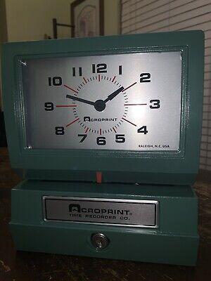 Acroprint Model 150ar3 Heavy Duty Automatic Time Recorder W One Key