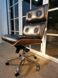 Beautiful Eames Retro-Vintage Leather Office Chair -Can Deliver