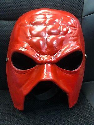 UK KANE FIBREGLASS WWE WWF WRESTLING COSTUME FANCY DRESS UP MASK ADULT CHILD - Kane Wwe Costume