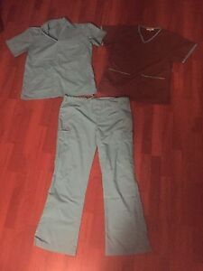 Set of Scrubs, two matching tops
