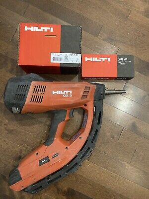 Hilti Gx 3 Gas Powered Actuated Fastener Nail Gun W Fasteners 34 Fuel Cell