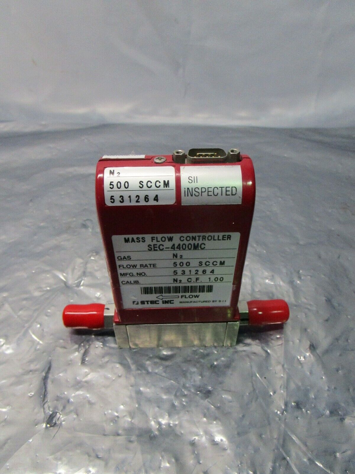 STEC SEC-4400MC Mass Flow Controller, MFC, N2, 500 SCCM, 418941