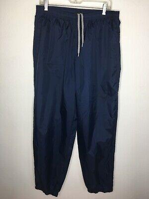 Nike Men's Vintage Nylon Jogger Pants Navy Blue Ankle Zip Size XXL Lightweight