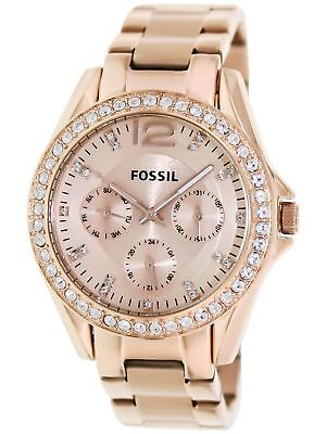 Купить Fossil Fossil Riley - Fossil Women's Riley ES2811 Rose-Gold Stainless-Steel Fashion Watch