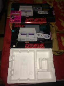 RARE SNES SYSTEM BOXES CASH OR TRADE!